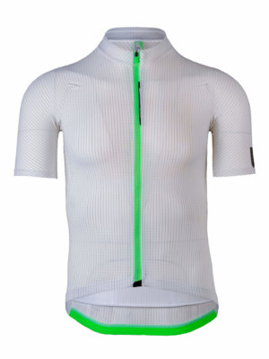 Mens cycling jersey L1 Pinstripe Q36.5 white
