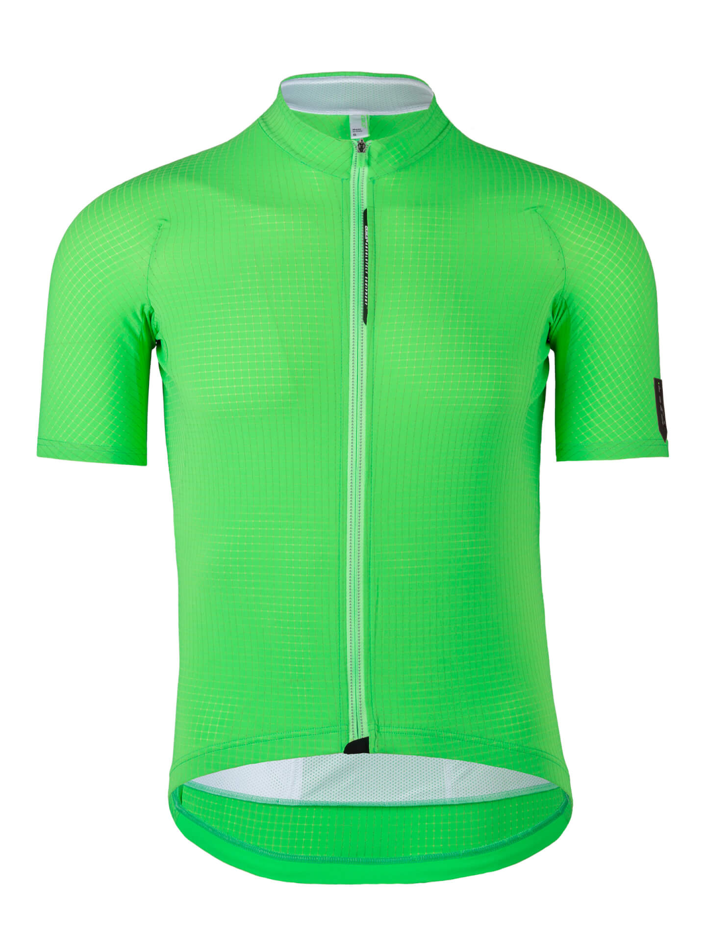 Mens cycling jersey L1 Pinstripe Q36.5 green fluo
