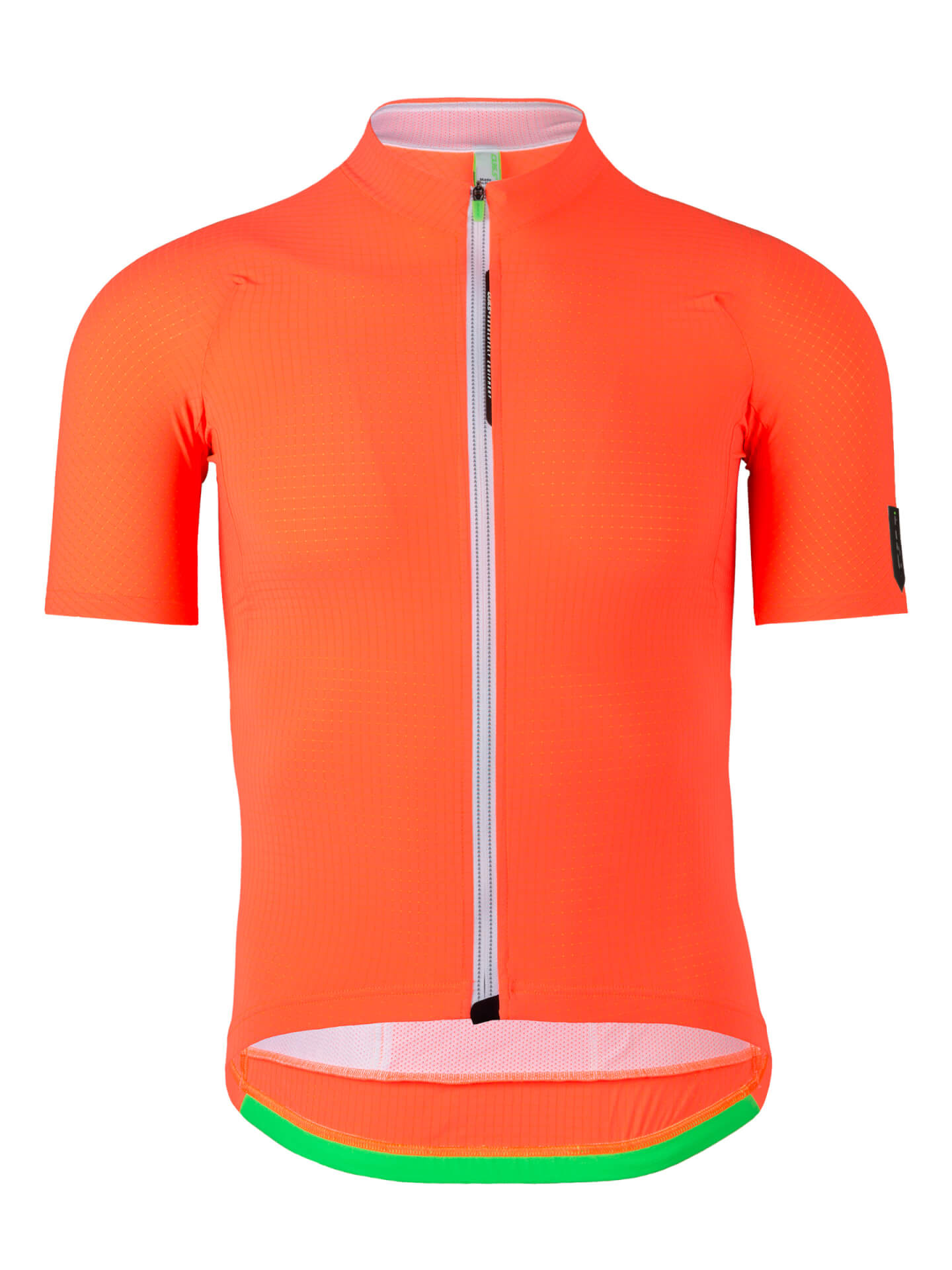 Mens cycling jersey L1 Pinstripe Q36.5 orange fluo