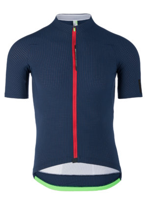 Cycling jersey short sleeve L1 pisntripe navy blue Q36.5