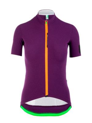 Womens cycling Jersey short sleeve L1 Pinstripe Lady purple Q36.5