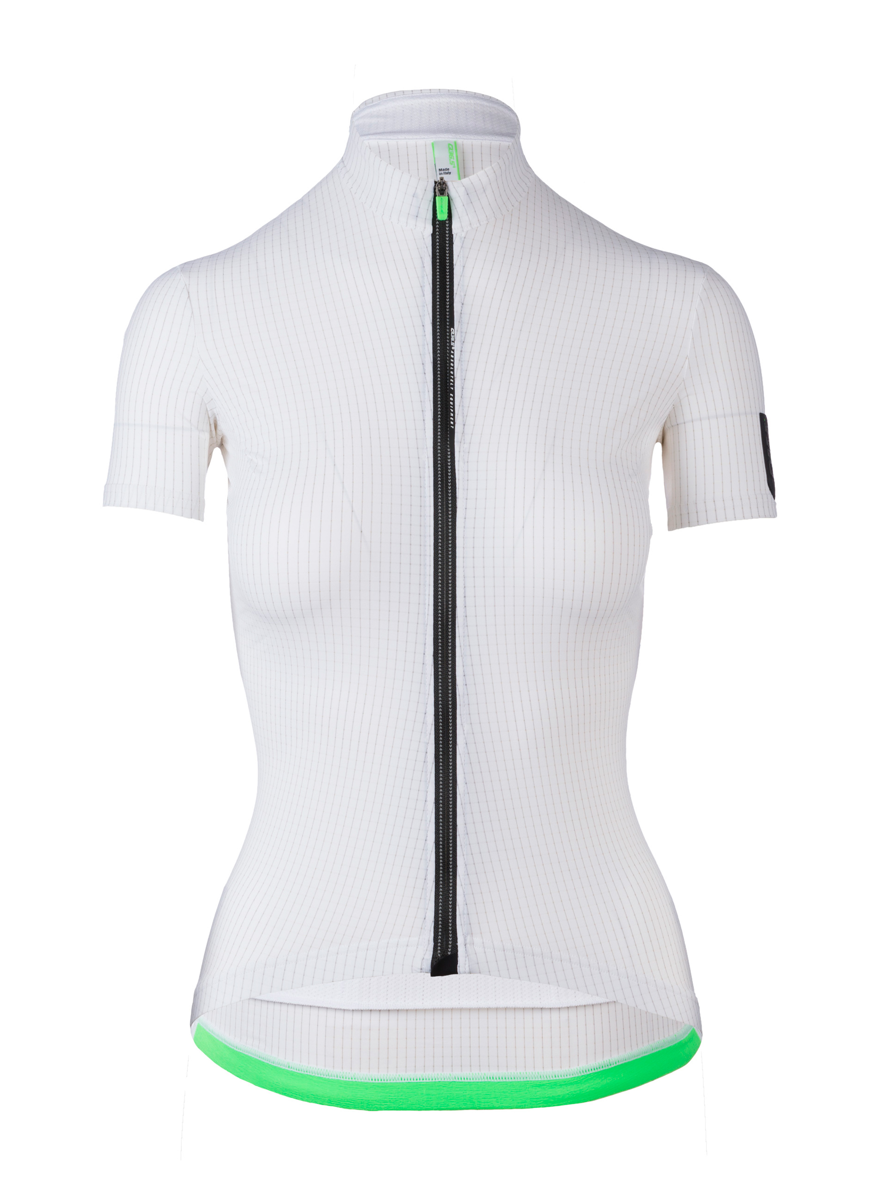 Womens cycling Jersey short sleeve L1 Pinstripe Lady white Q36.5 - back