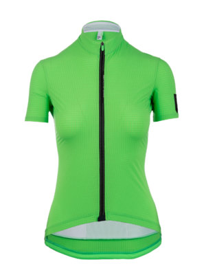 Womens cycling Jersey short sleeve L1 Pinstripe Lady green Q36.5