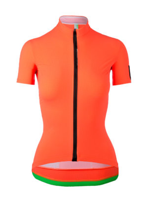 Womens cycling Jersey short sleeve L1 Lady orange Q36.5 - back