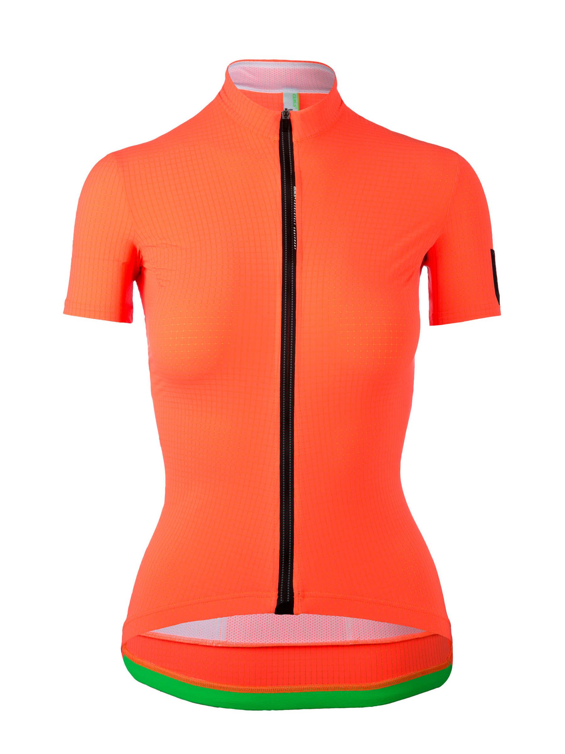 Womens cycling Jersey short sleeve L1 Lady Pinstripe orange Q36.5 - back