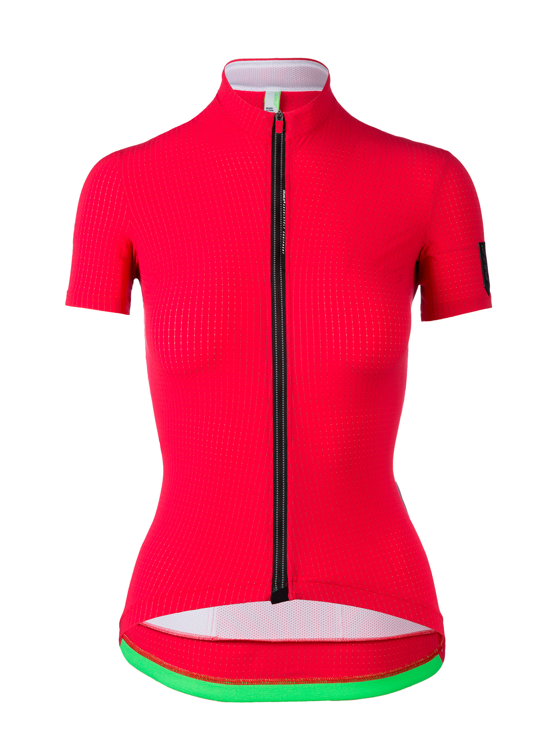 Womens cycling Jersey short sleeve L1 Lady Pinstripe red Q36.5