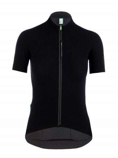 womens cycling jersey pinstripe x black