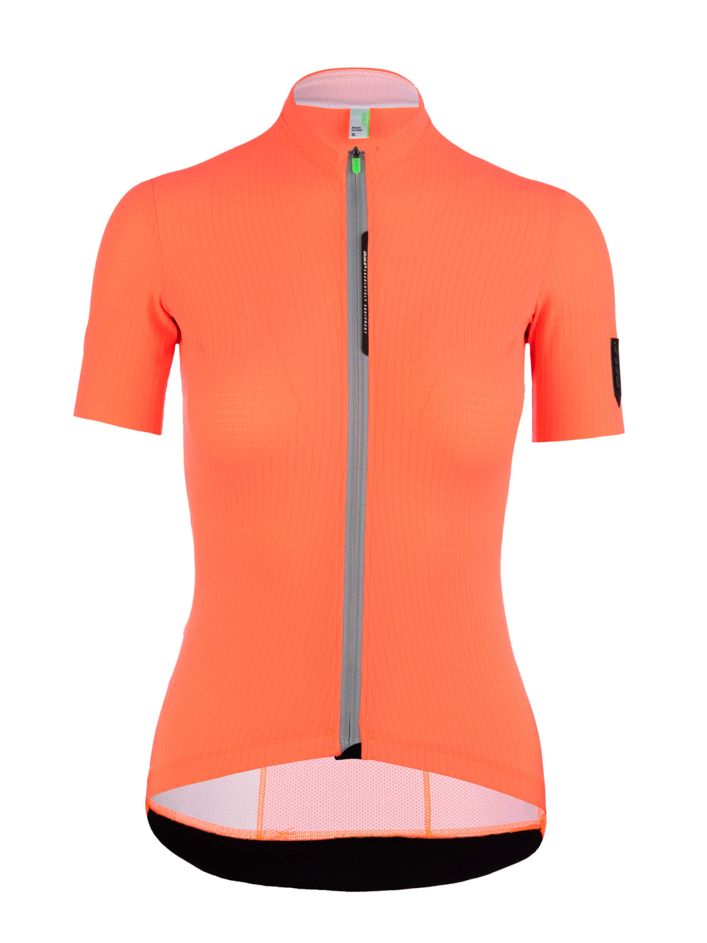 Womens cycling jersey short sleeve L1 Woman Pinstripe X coral Q36.5