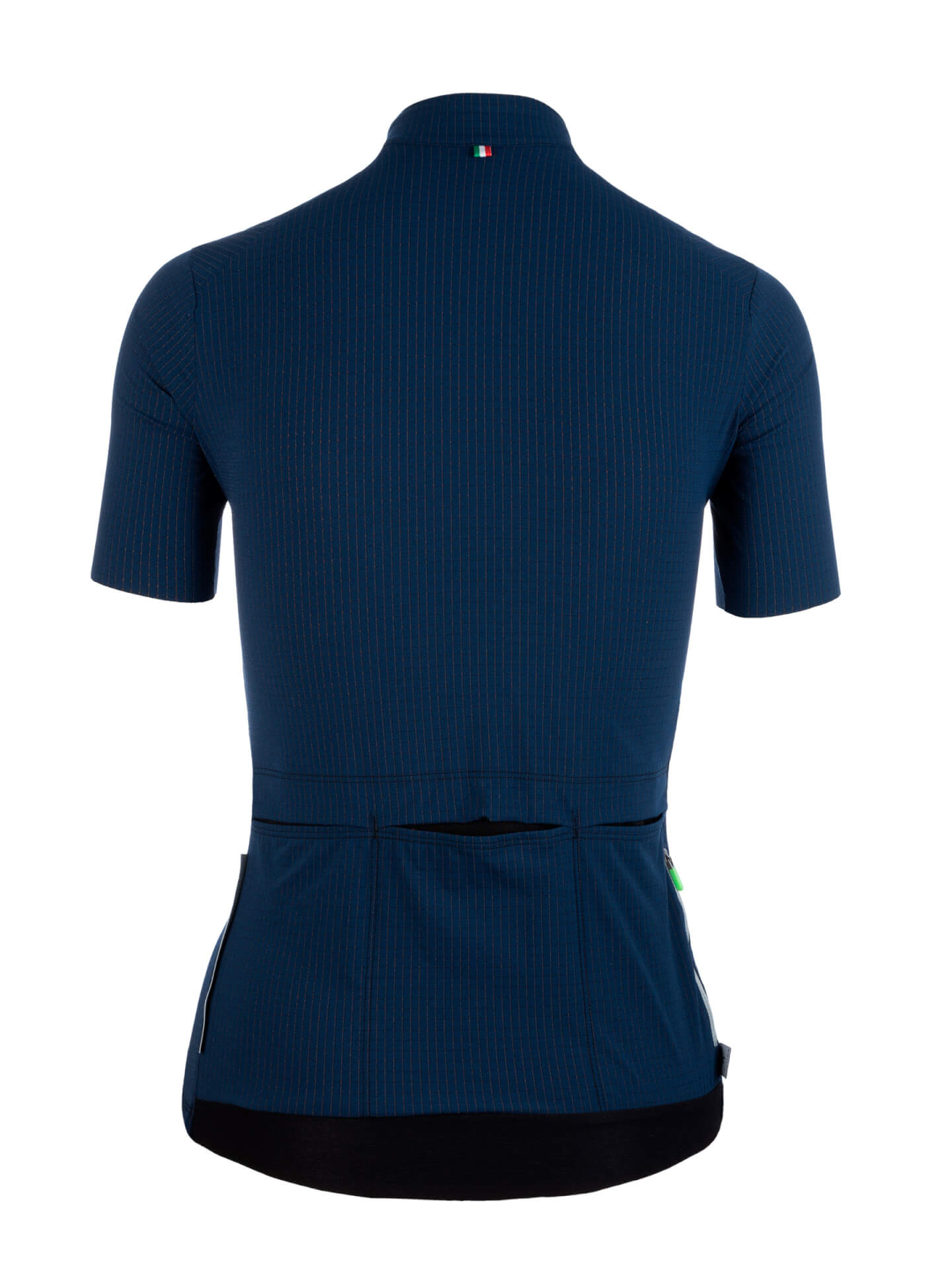 Maillot manches courtes L1 Woman Pinstripe X Bleu marine