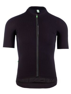 Mens cycling jersey short sleeve Pinstripe X Black Q36.5