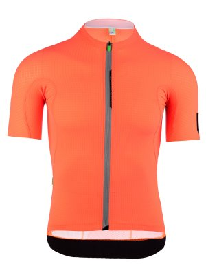 Mens cycling jersey short sleeve L1 Pinstripe X coral Q36.5