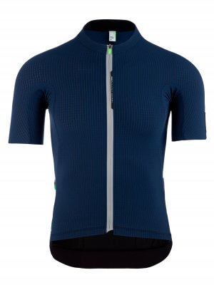 Maglia ciclismo uomo L1 Pinstripe X blu navy Q36.5