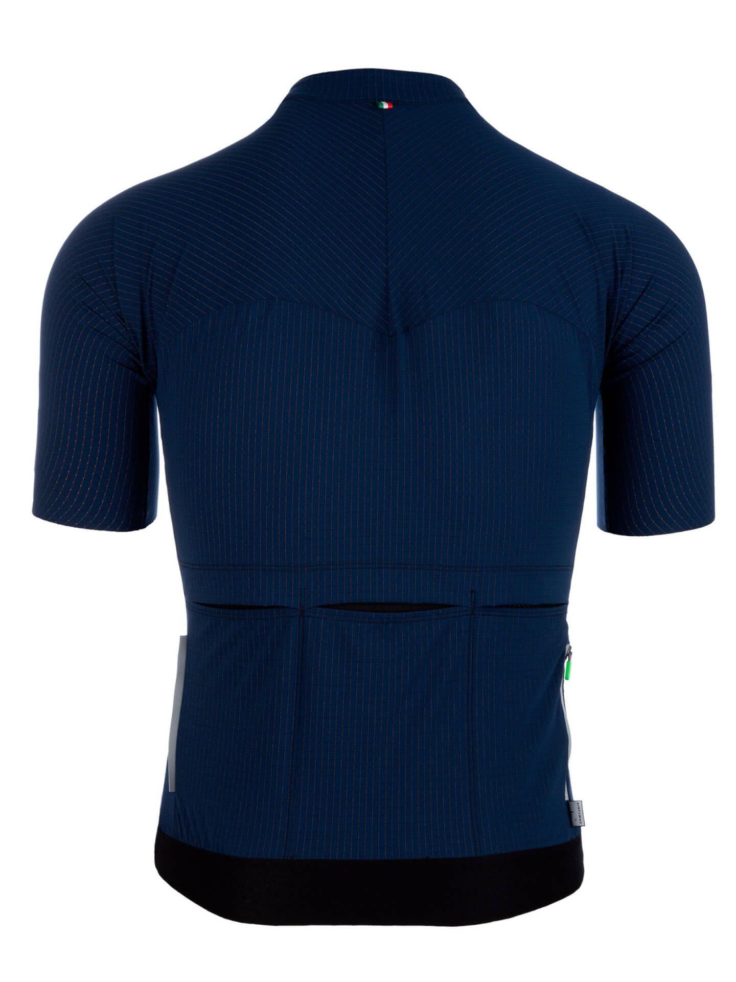 Maillot manches courtes L1 Pinstripe X bleu marine