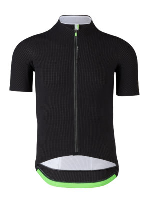 mens cycling jersey short sleeve Pinstripe black Q36.5