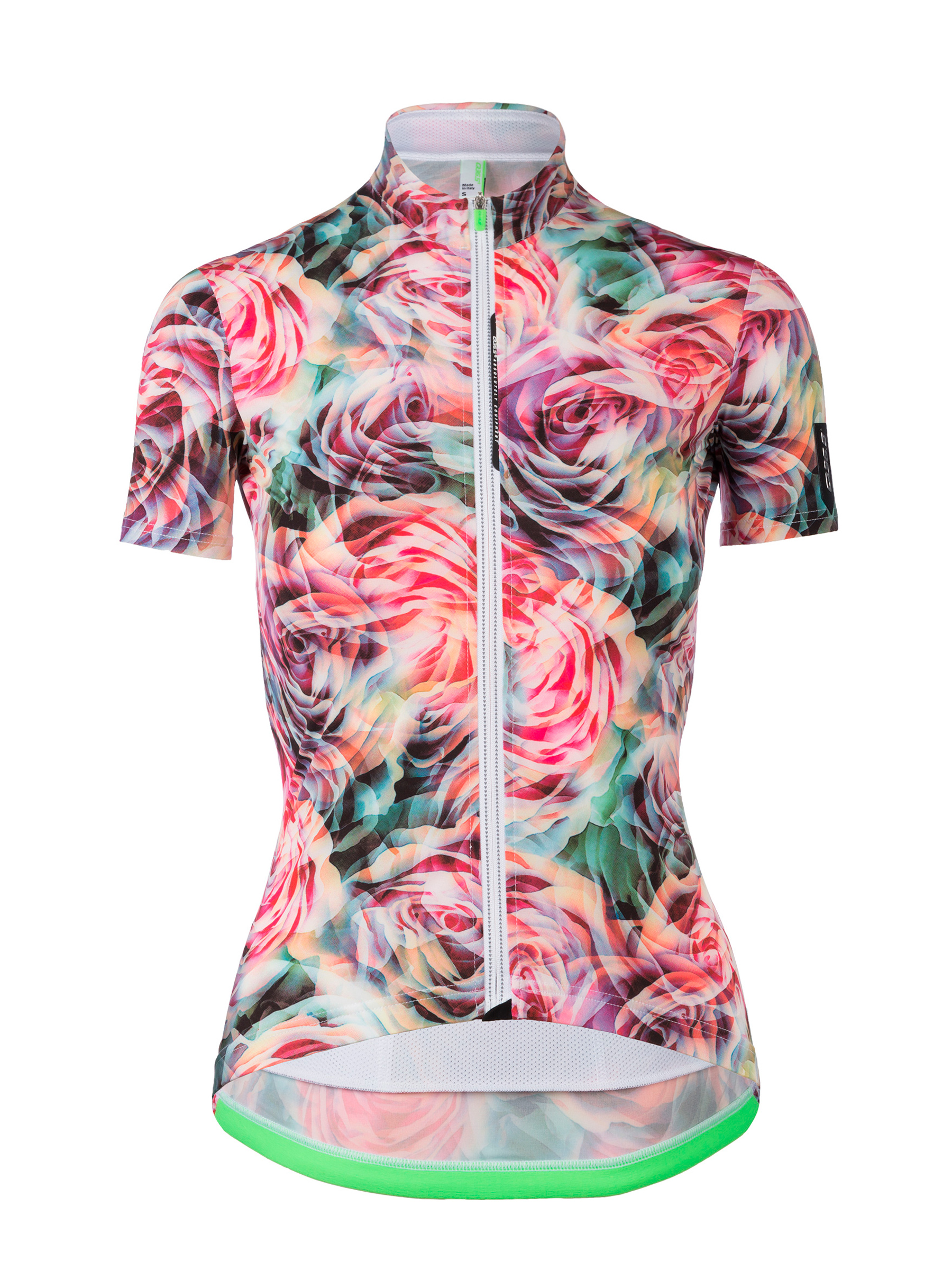 Womens cycling graphic Jersey short sleeve G1 Lady flower Q36.5