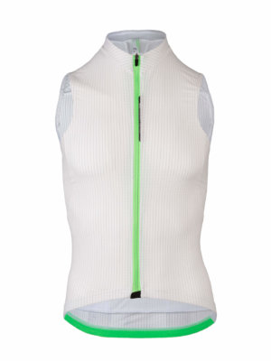 Cycling Jersey sleeveless L1 Pinstripe Q36.5 white - back