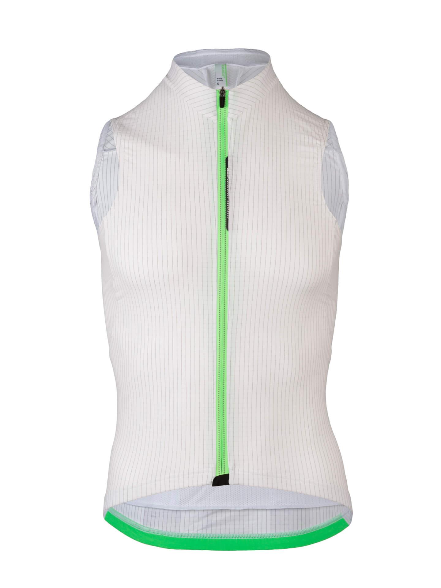 Cycling Jersey sleeveless L1 Pinstripe Q36.5 white - back