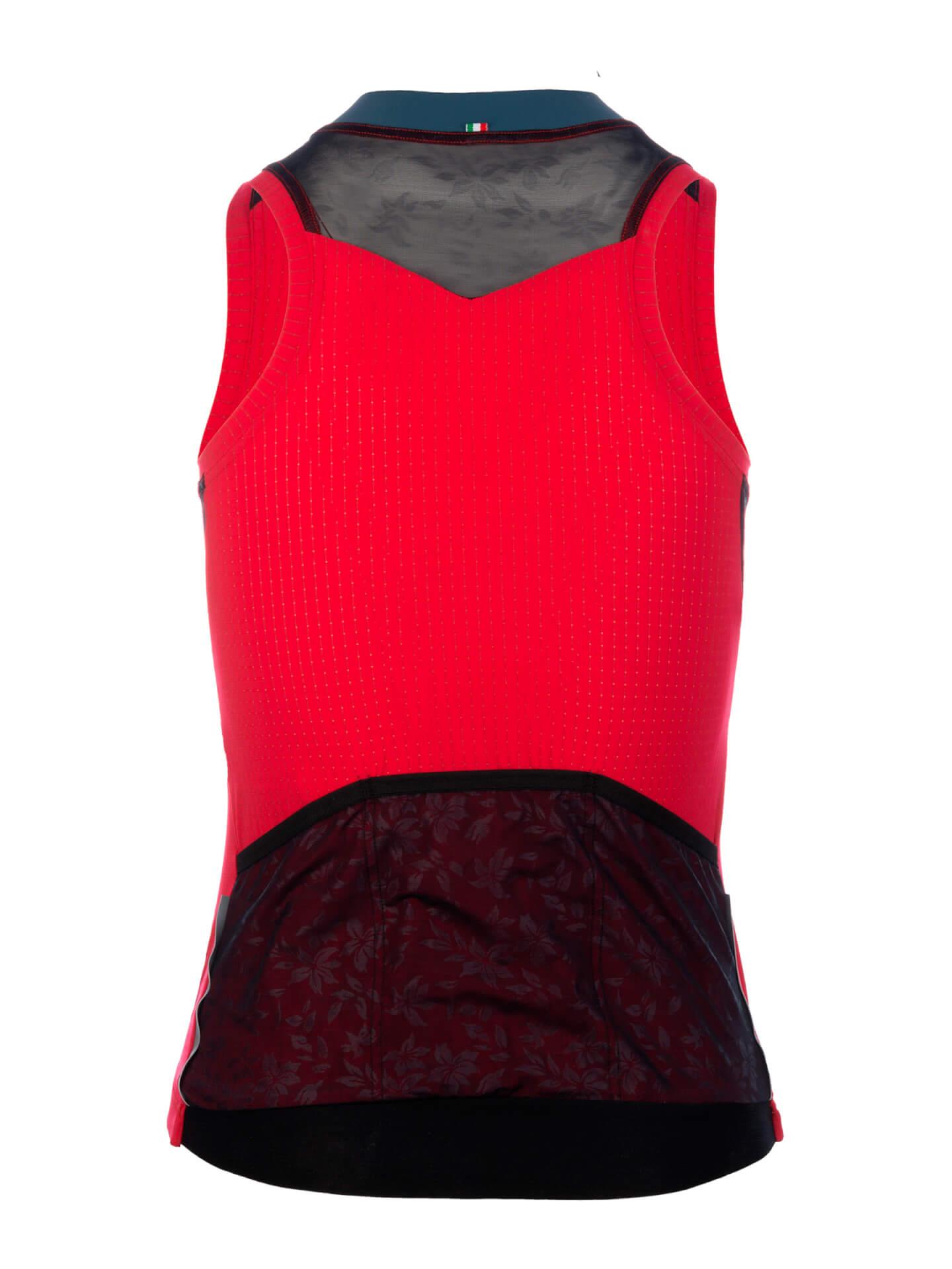 Maillot sin mangas L1 Woman Pinstripe rojo