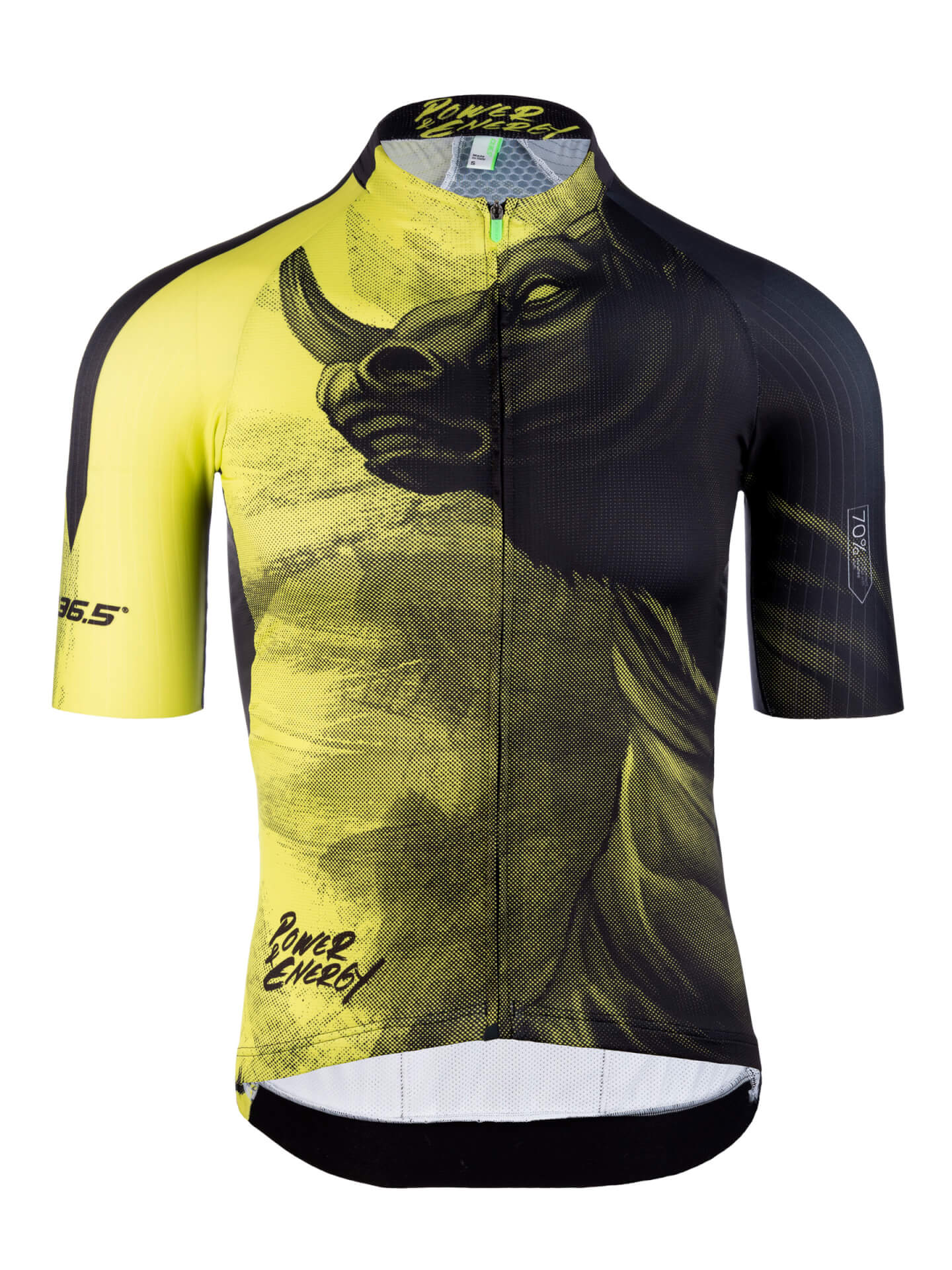 Mens graphic cycling jersey short sleeve R2 Y bull Q36.5