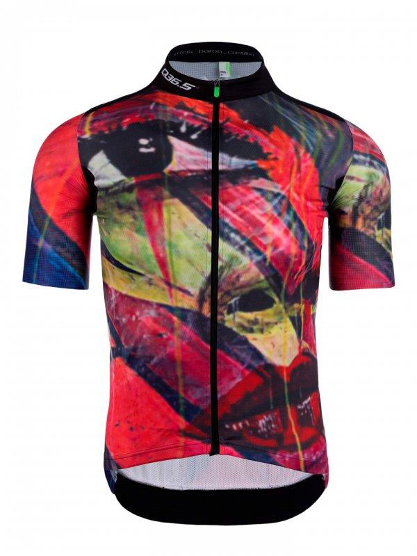 Mens graphic cycling jersey short sleeve G1 Felix Q36.5 - team illuminate