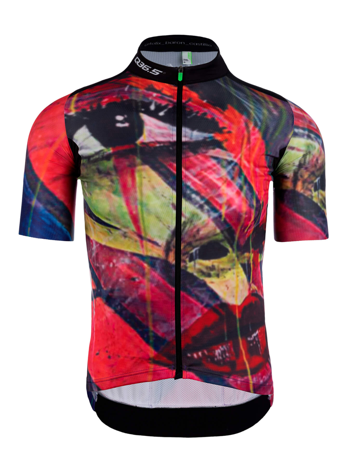 Mens graphic cycling jersey short sleeve G1 Felix Q36.5 - team illuminate