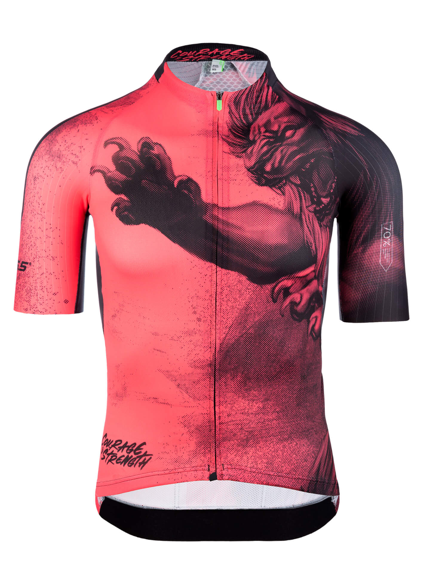 Mens graphic cycling jersey short sleeve R2 Y lion Q36.5