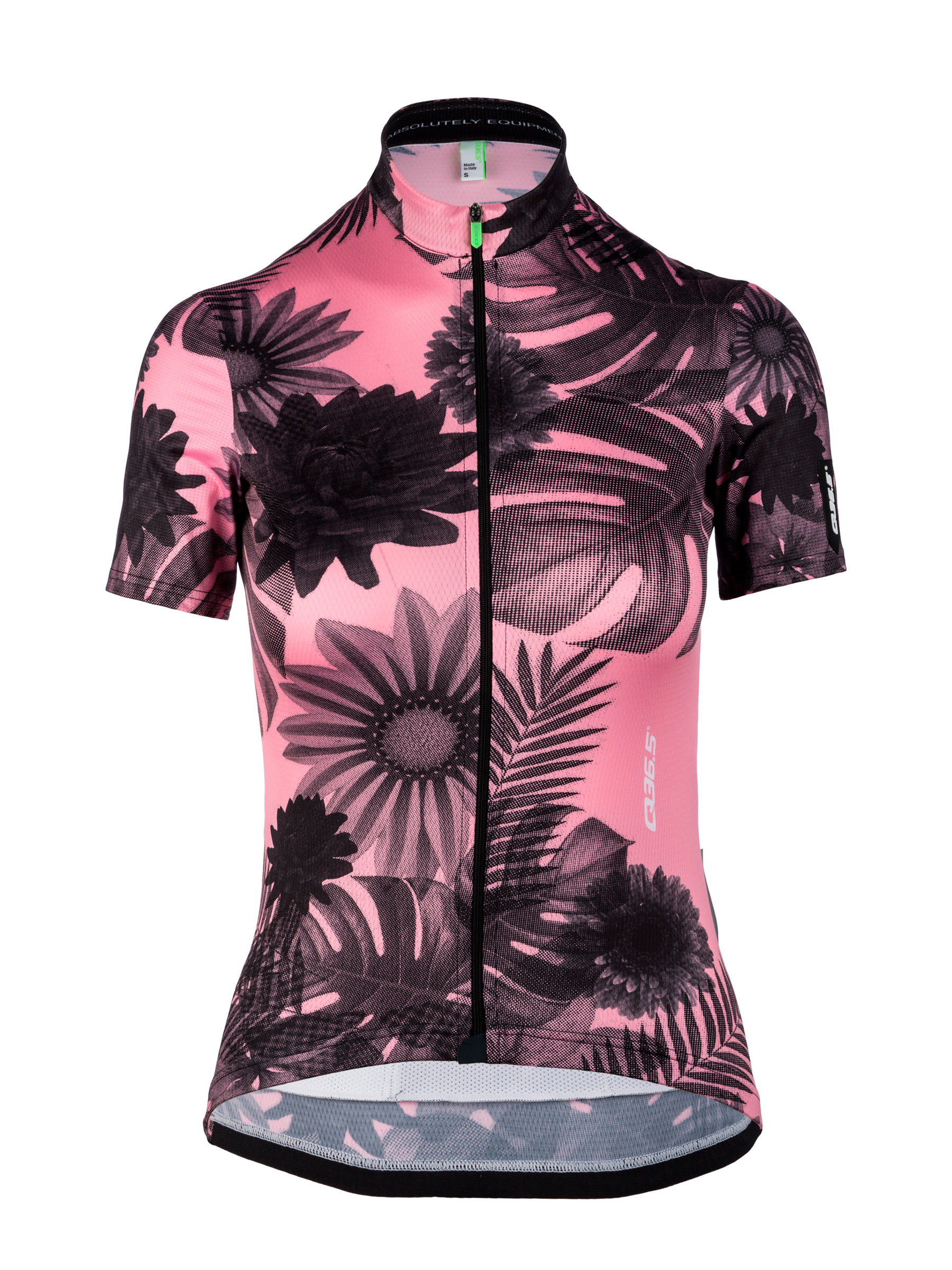 Womens cycling graphic Jersey short sleeve G1 Lady Tropical Pink Q36.5