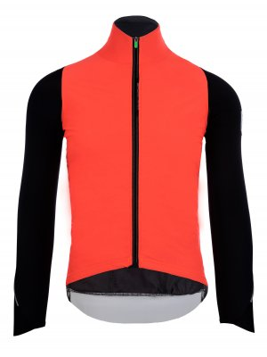 Giacca ciclismo uomo Air Insulation Q36.5 - arancione / nera