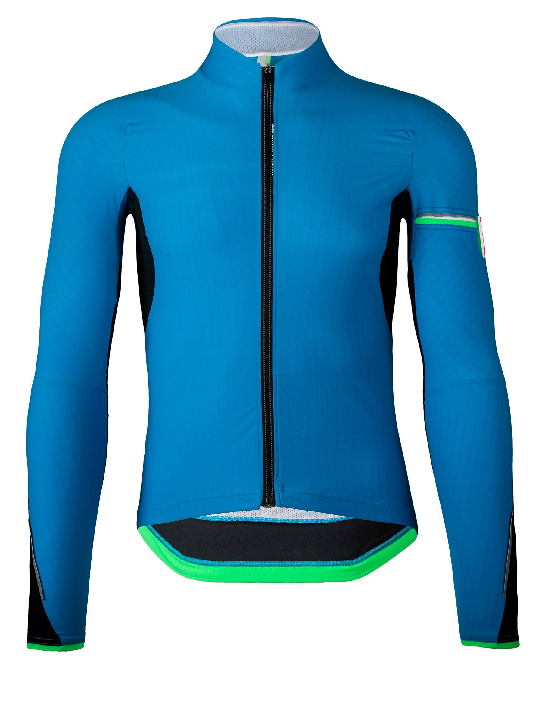 Mens cycling jacket long sleeve Hybrid Que blue Q36.5