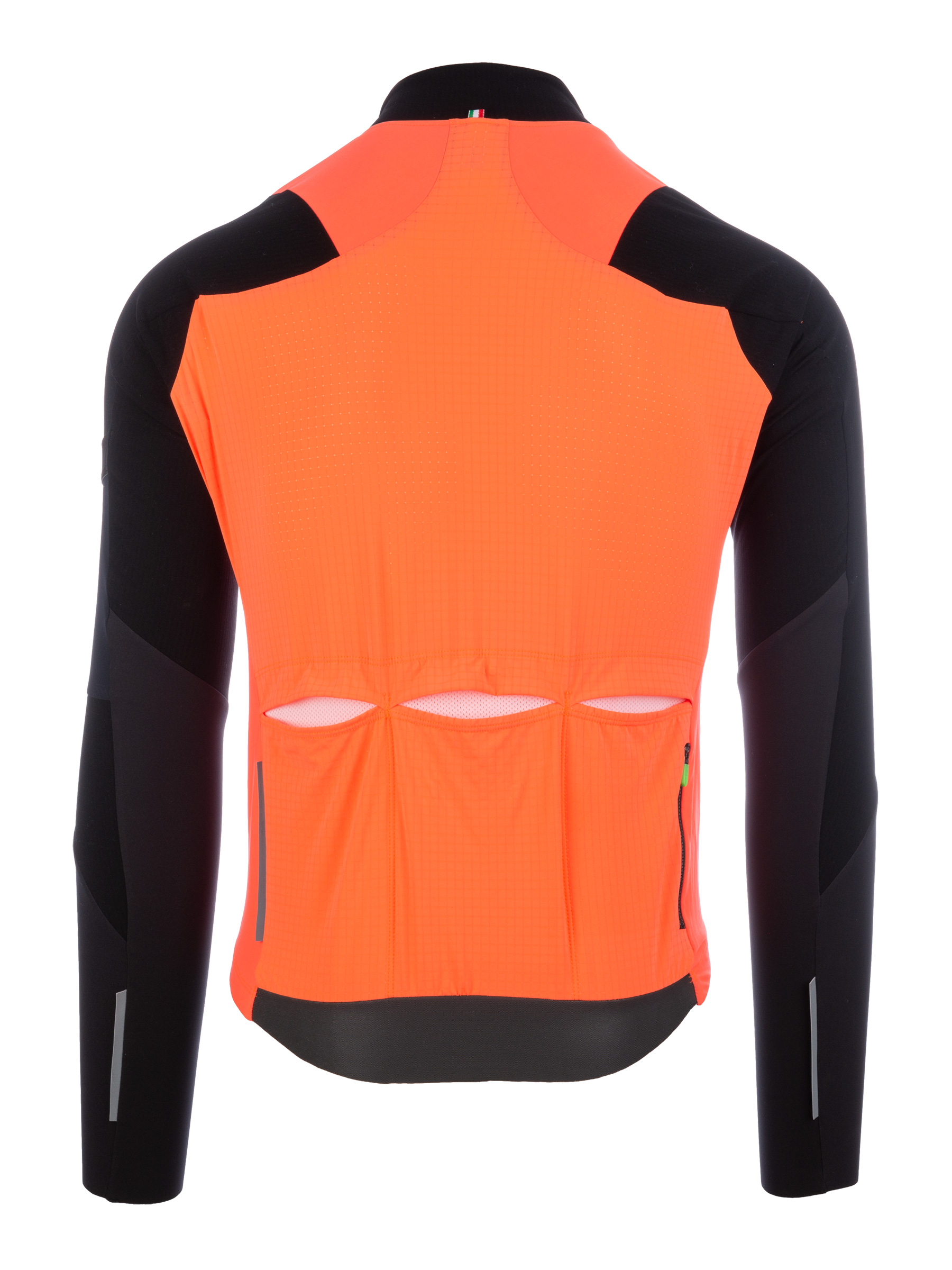 Radtrikot Jersey Long Sleeve Hybrid Que X Orange