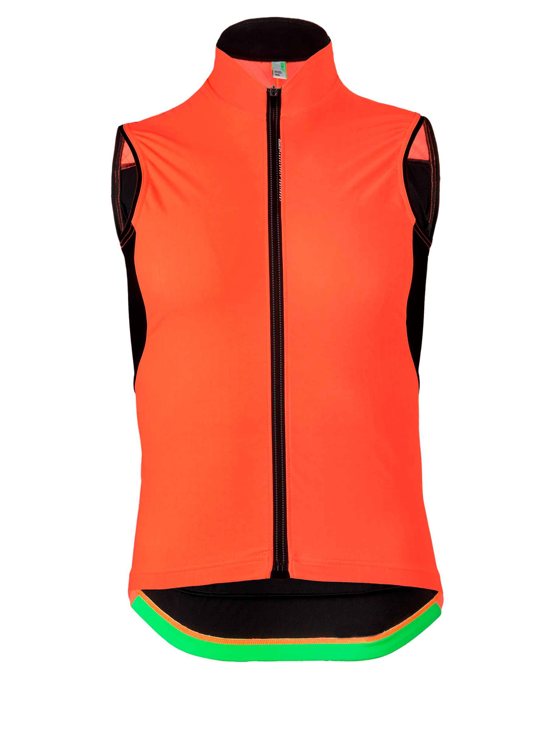 Mens cycling vest L1 Essential orange Q36.5