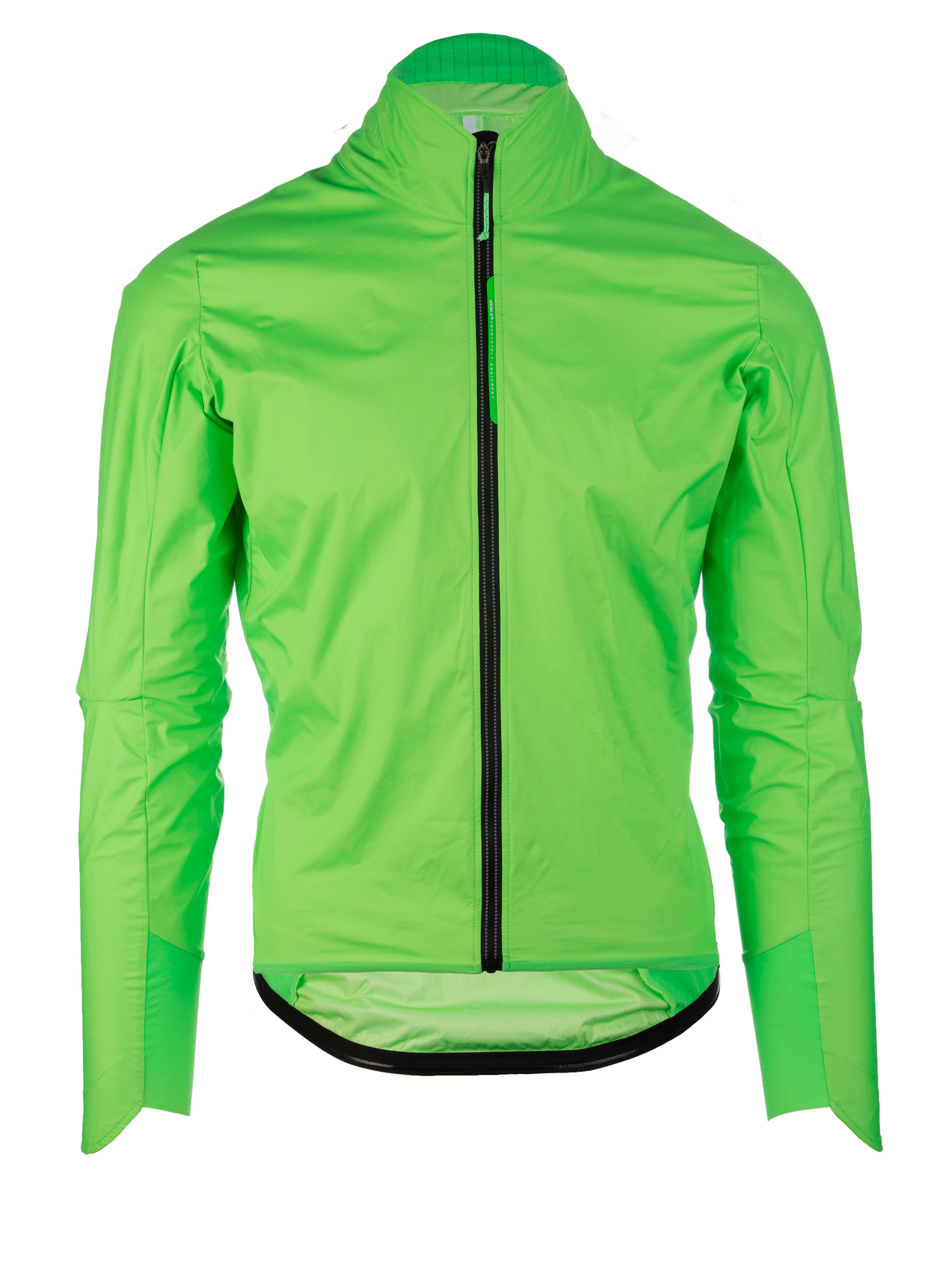 Giacca ciclismo pioggia R.Shell Protection Q36.5 verde fluo