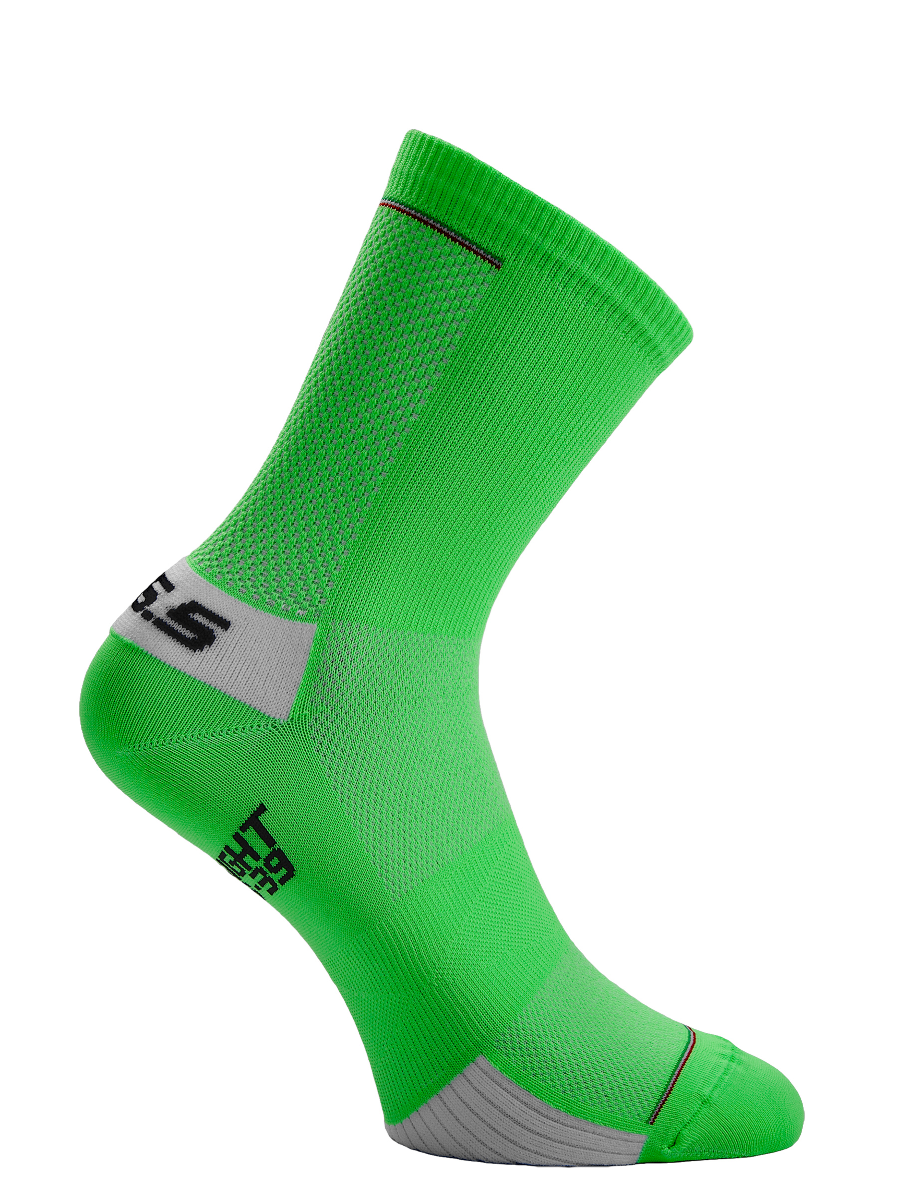 Cycling socks Ultralight green fluo Q36.5 - side
