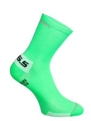 Cycling socks Compression ITA Socks Q36.5 green fluo - back