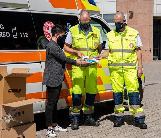 donazioni mascherine croce bianca bolzano