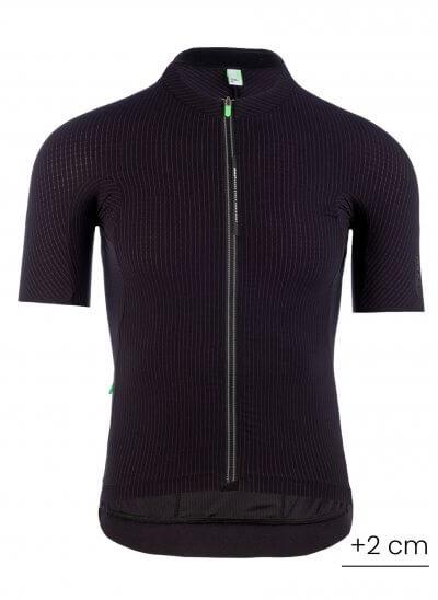 mens cycling jersey pinstripe x black