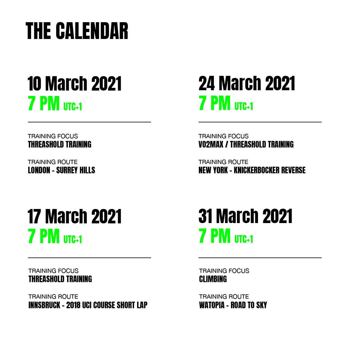 zwift calendar march
