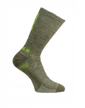 compression cycling socks olive green