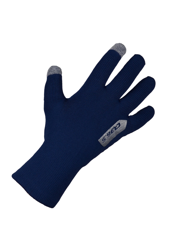 cycling rain winter gloves anfibio navy blue - 265x.9