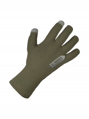 cycling rain winter gloves anfibio olive green - 265x.14
