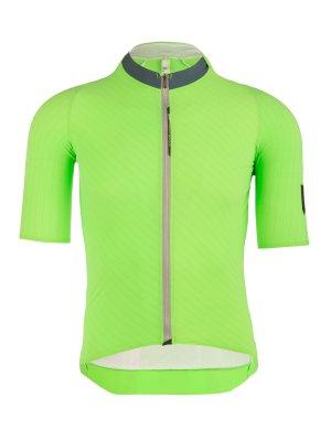Mens cycling jersey short sleeve Seta green Q36.5