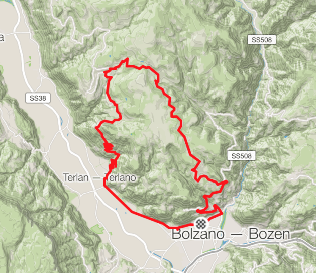 cycling route dolomiti