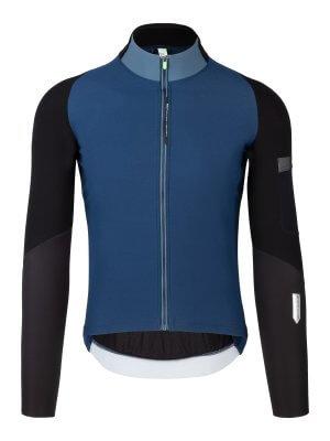 Maglia ciclismo uomo maniche lunghe Hybrid Que X blu navy Q36.5 - 045X.9