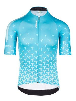 Maillot vélo homme R2 Y turquoise Q36.5