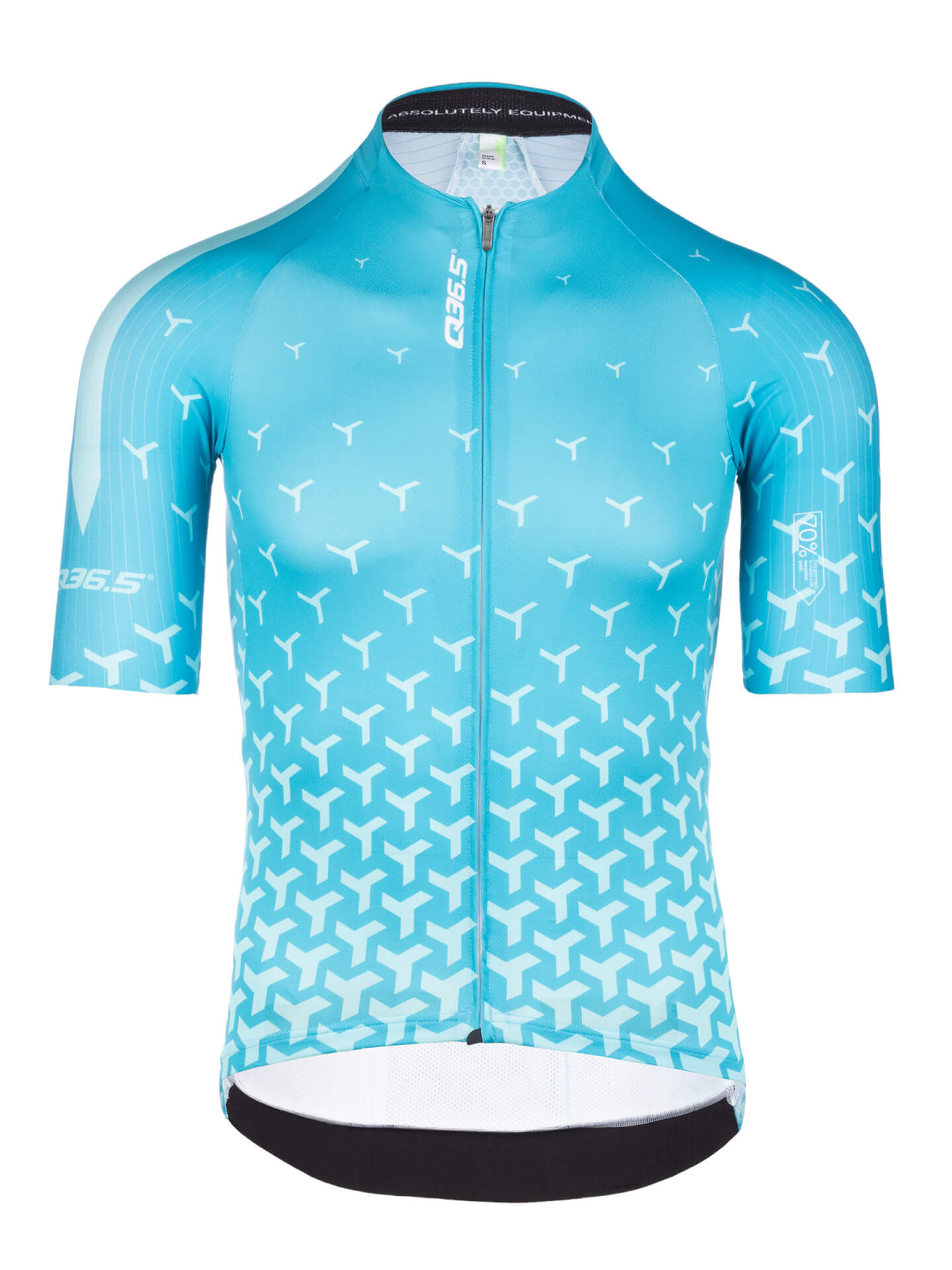 Mens cycling jersey short sleeve R2 Y turquoise Q36.5