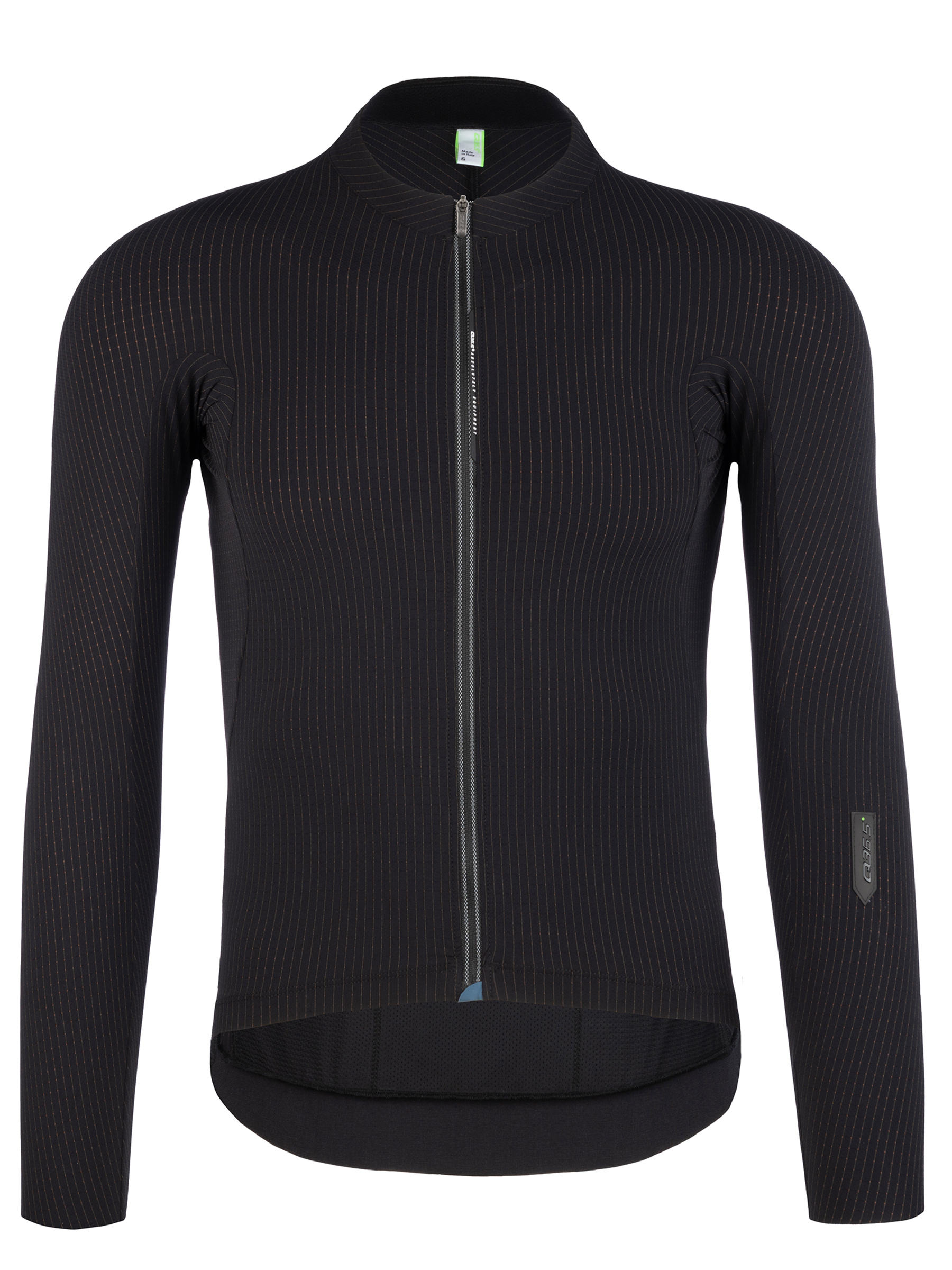 Maglia ciclismo uomo maniche lunghe L1 Pinstripe X nera