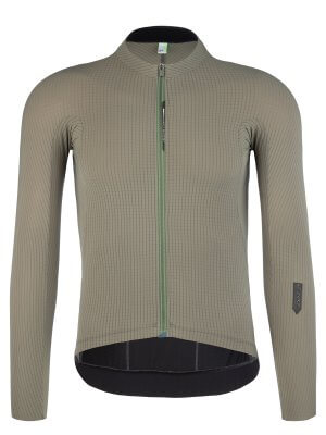mens cycling jersey long sleeve Pinstripe X olive green