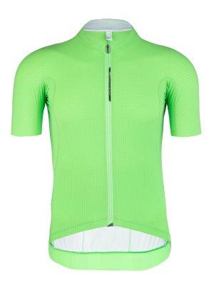 mens summer cycling jersey Pinstripe X green fluo Q36.5
