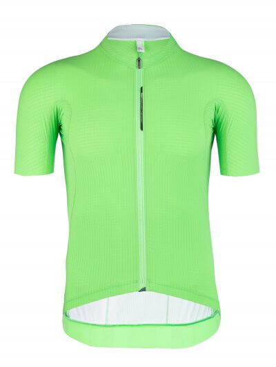mens cycling jersey pinstripe x green