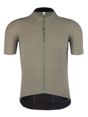 Maillot velo homme manches courtes L1 Pinstripe X olive Q36.5